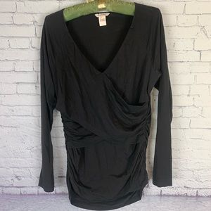 Sundance Vanessa Faux Wrap Ruched Top Large